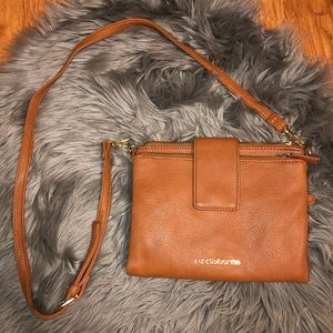 Liz Claiborne Brown Leather Crossbody